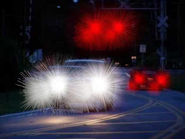 Night driving with cataracts