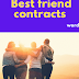 Best friend contracts - printable word template