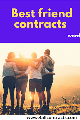 Example of Friendship Contract