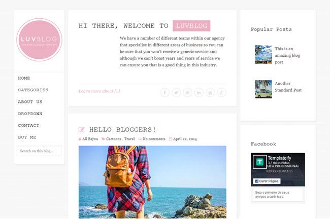Luvblog - Responsive Blogger Template