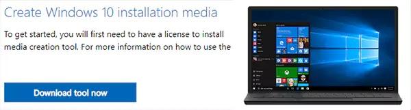 قم بتنزيل أداة إنشاء الوسائط لنظام التشغيل Windows 10