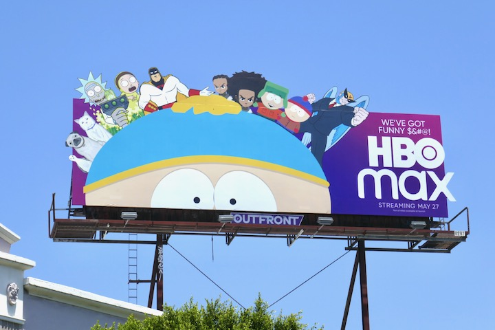 HBO Max Cartman extension cutout billboard