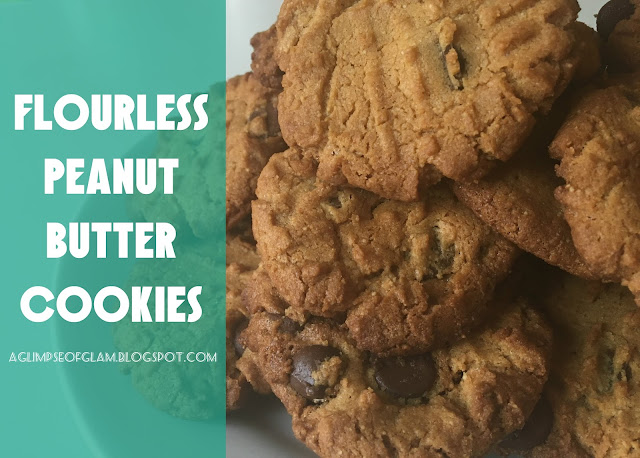 Four Ingredient Flourless Peanut Butter Cookies - A Glimpse of Glam Andrea Tiffany