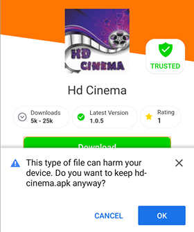 hd cinema app for android
