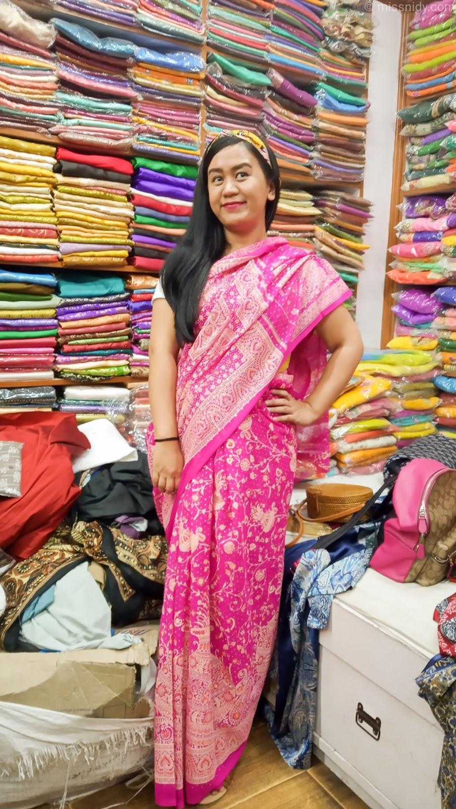 lokasi toko kain saree di jaipur india