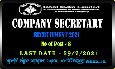 COAL India Recruitment 2021 - Manager vacancy