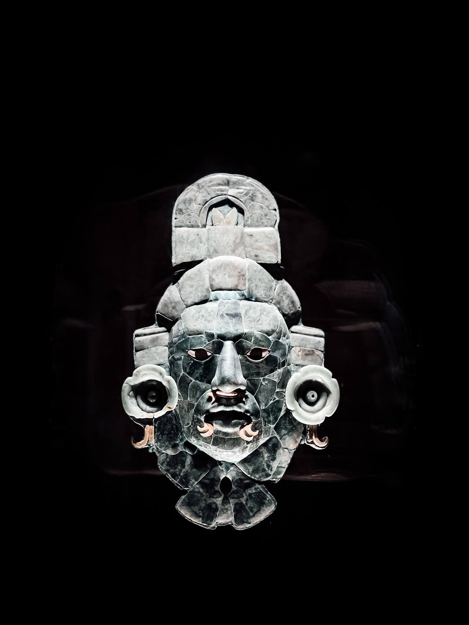Campeche Musée Archéologique Masque Maya en Jade