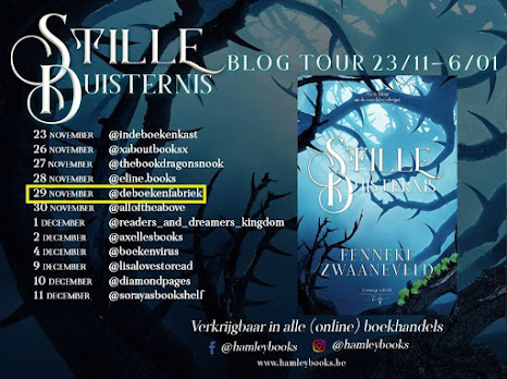 Blogtour banner van Stille duisternis van Fenneke Zwaanveld, Hamley Books