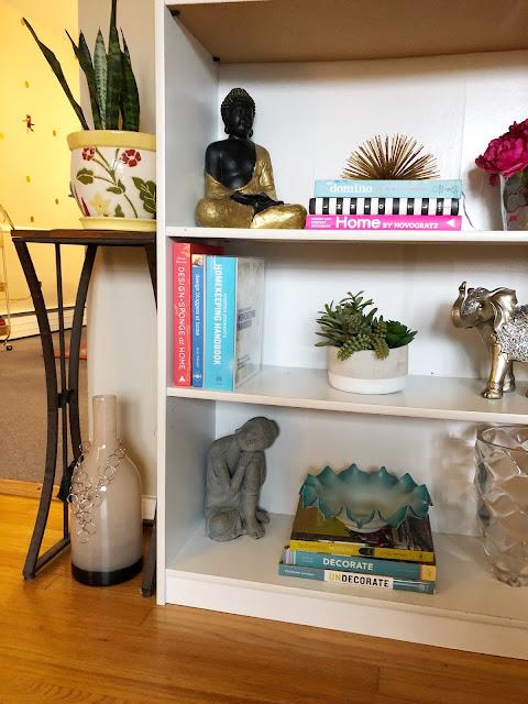 Organized and styled bookshelf