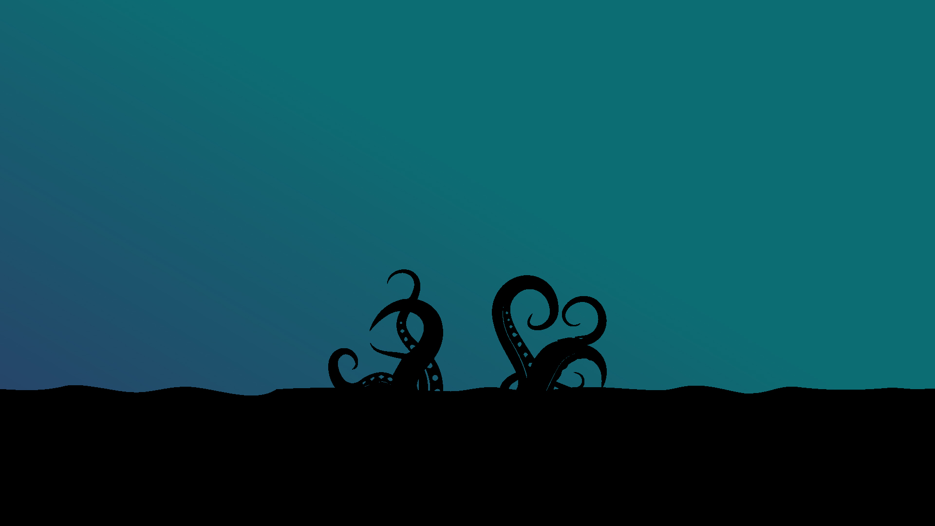 MINIMALIST DESKTOP WALLPAPER - OCTOPUS | HeroScreen - Cool ...