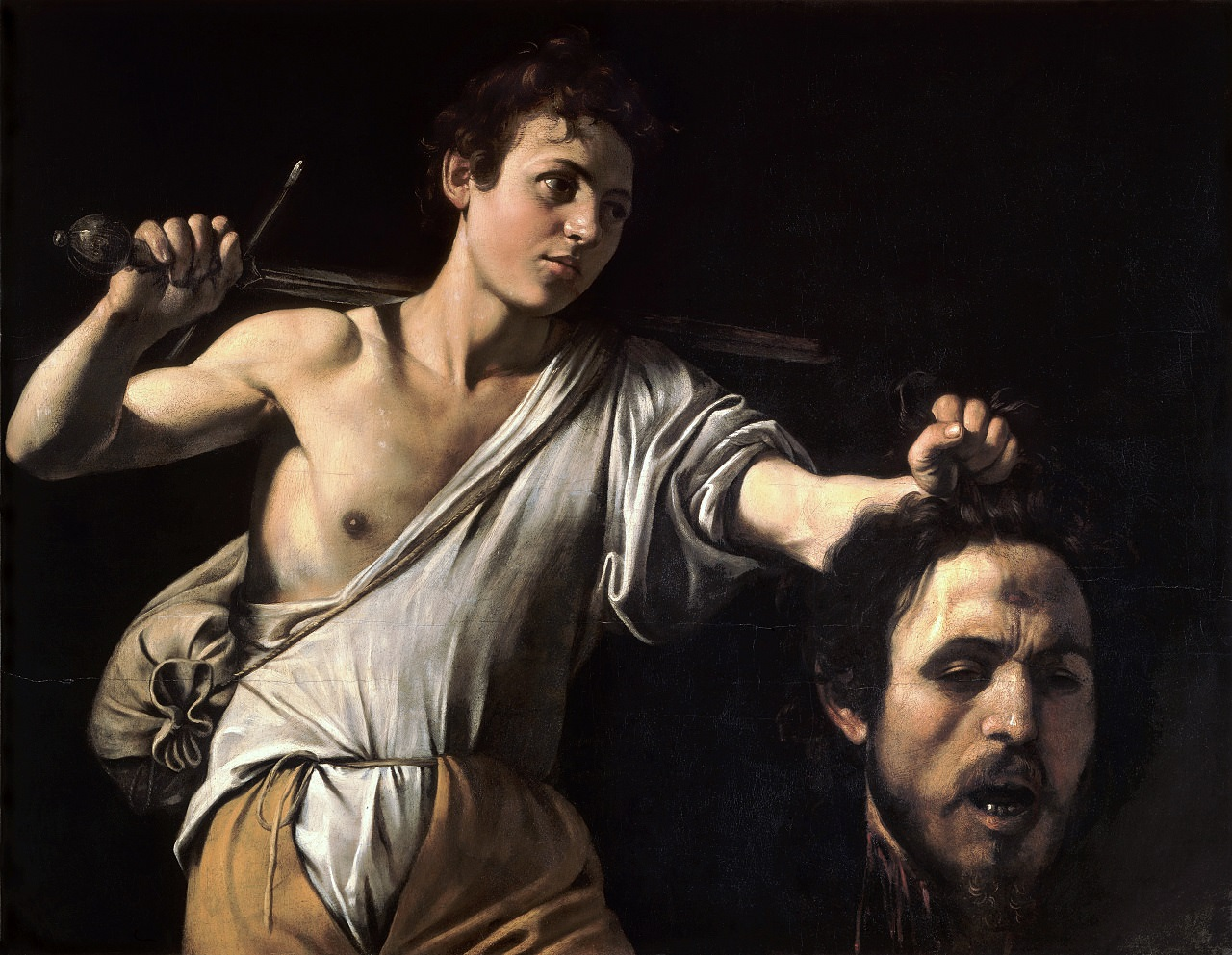 David and Goliath (David with the Head of Goliath) by Michelangelo Merisi da Caravaggio in Kunsthistorisches Museum, Vienna