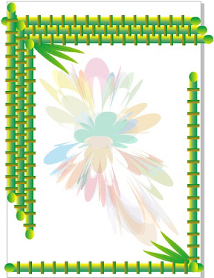 Desain Bingkai Bambu Format cdr