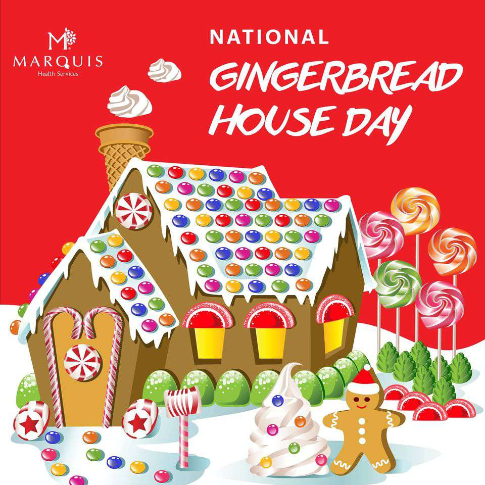 Gingerbread House Day Wishes for Instagram