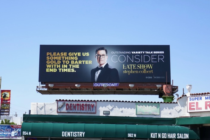Late Show Stephen Colbert 2019 Emmy billboard