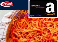Logo Barilla ''Di che pasta sei fatto ? '': vinci gratis 270 buoni Amazon da 50€