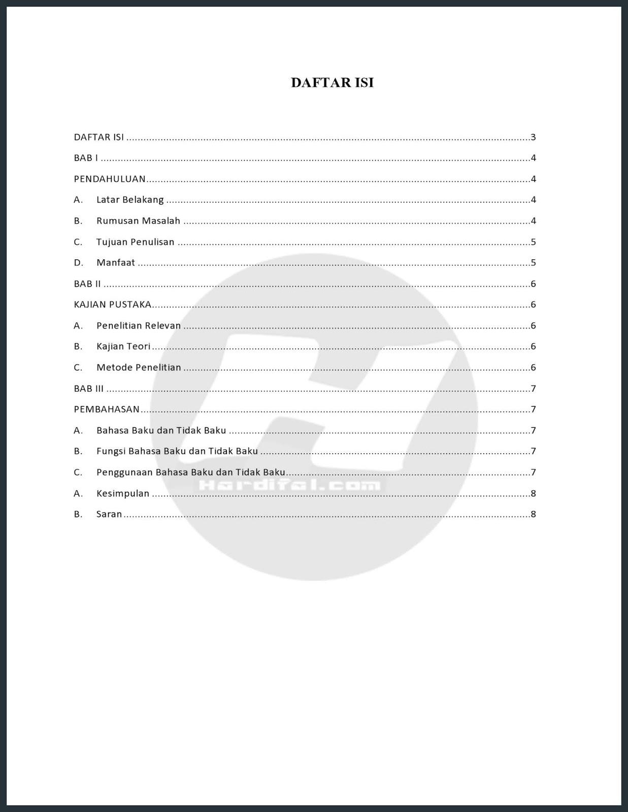 Cara Membuat Titik Daftar Isi Otomatis Di Word 2010 Untuk Makalah