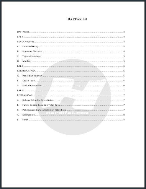 Cara Membuat Titik Daftar Isi Otomatis Di Word 2010 Untuk Makalah, Skripsi dan Tesis