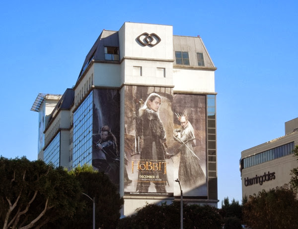 Giant Hobbit Desolation of Smaug elves billboard