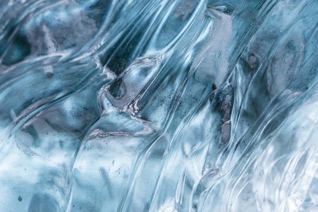 Ice cave detail at Iceland's Vatnajökull Glacier