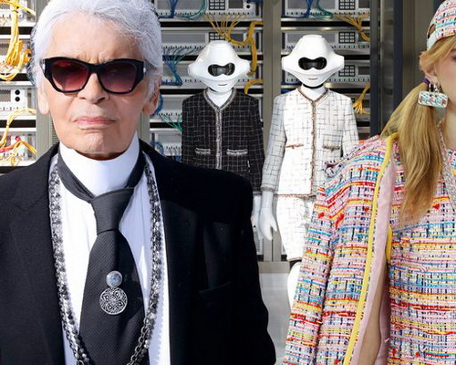www.Tinuku.com Karl Lagerfeld brings fashion glamor for Data Center Chanel technologies at Paris Fashion Week