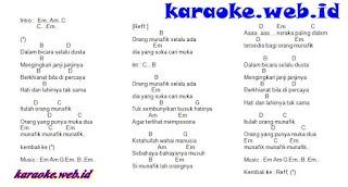 Lirik Lagu dan Kunci Gitar Munafik - Nasida Ria
