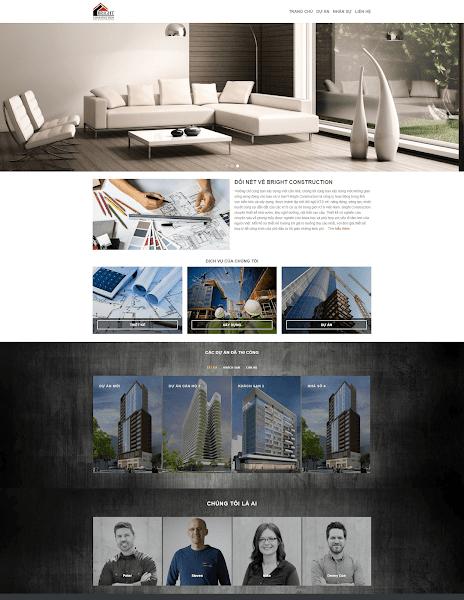 Template blogger kiến trúc xây dựng