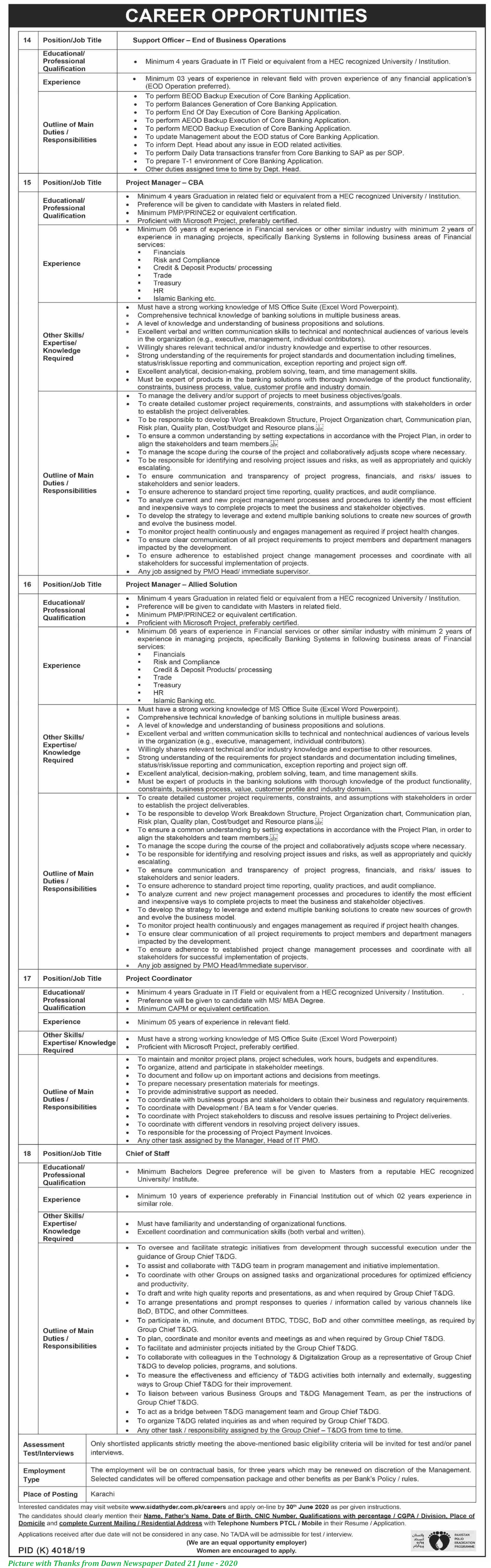 NBP Jobs 2020 - LatestJobs in National Bank of Pakistan June 2020 Apply Online for NBP Jobs