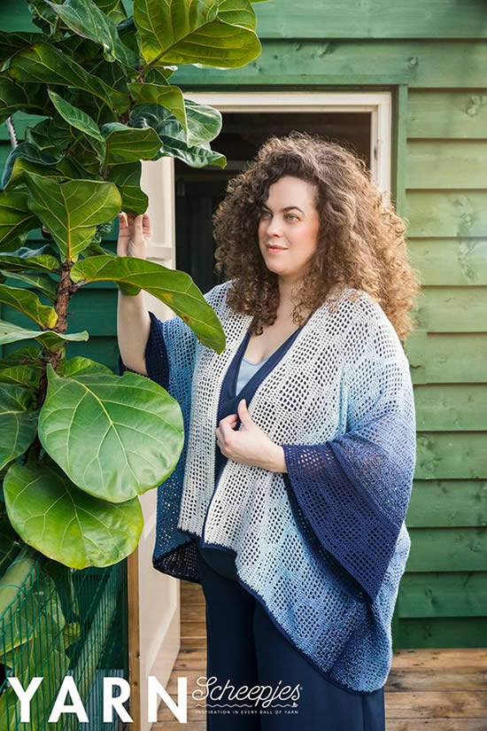 Crochet kimono, crochet pattern. Crochet pattern Scheepjes Whirl (photo by Scheepjes) | Happy in Red