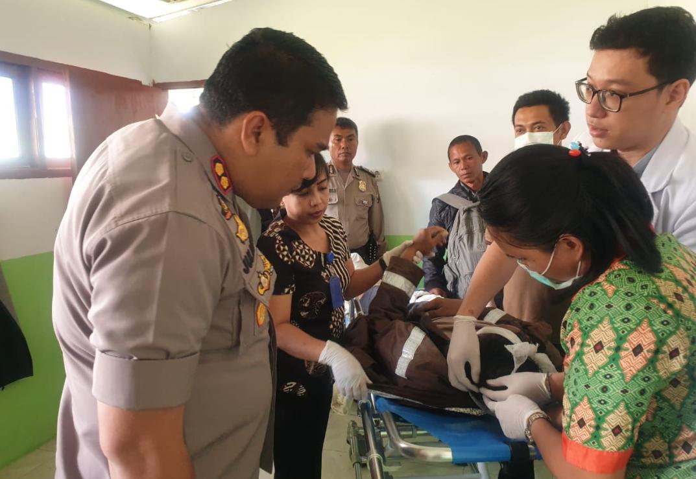 Tabrakan, Personil Polres Tana Toraja Meninggal Saat Amankan Pemilu 2019