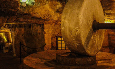 Guided tour, visit at the underground oil mills in Gallipoli, Apulia region Southern Italy