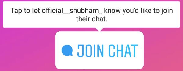 Instagram chat story Sticker