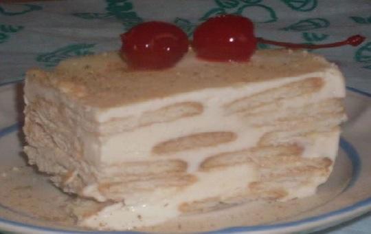Tarta de galletas maria