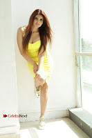 Actress Model Ihana Dhillon Poshoot Gallery in Yellow Lace Short Dress  0029.jpg