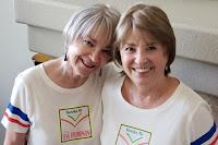 Judi Thompson and Charlene Tess (aka Tess Thompson)