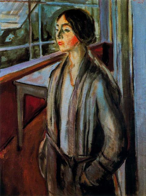 Эдвард Мунк - Женщина на веранде. 1924