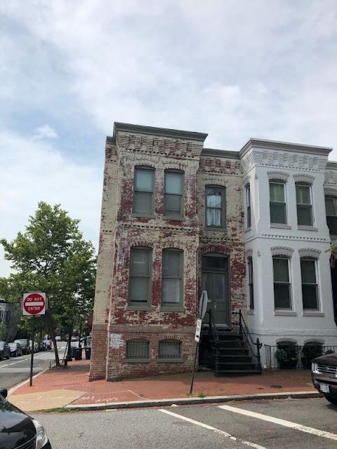 Blick auf ein altes Haus in Georgetown