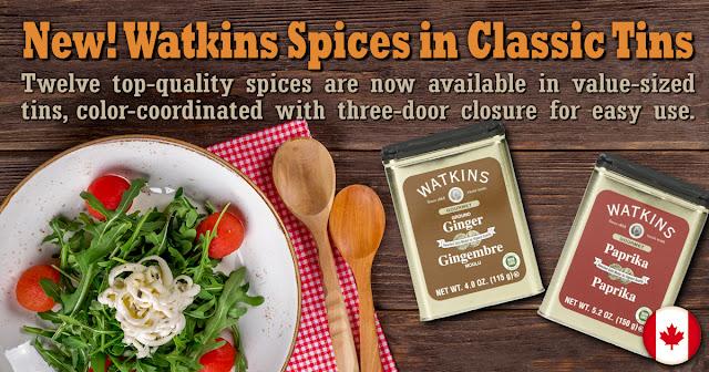 Watkins Cinnamon, Watkins Ginger, Watkins Onion, Watkins Garlic