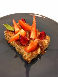 image Gâteau de Copenhague à la  rhubarbe et pâte d'amande