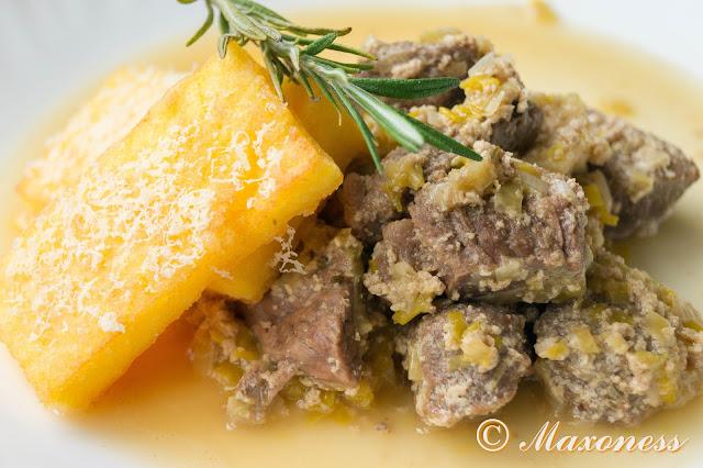 Тушеная говядина с луком-пореем. Итальянская кухня