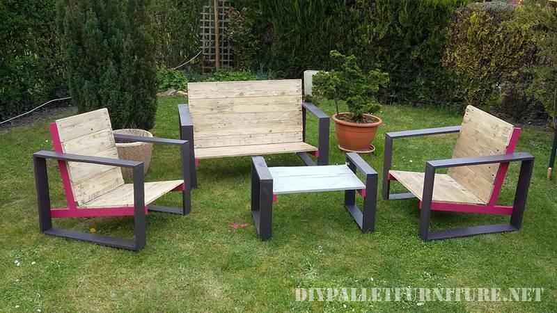 Muebles de dise o para tu jard n con - Muebles de jardin con palets ...