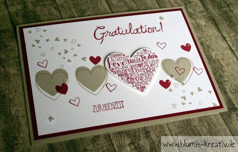Herzige Gratulation zur Hochzeit