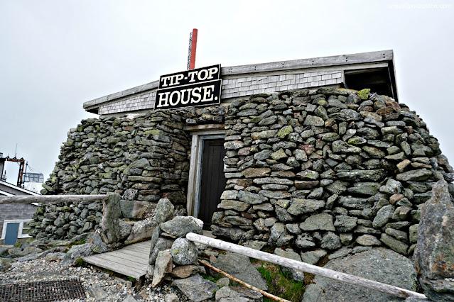 Tip Top House en la Cima de Mount Washington