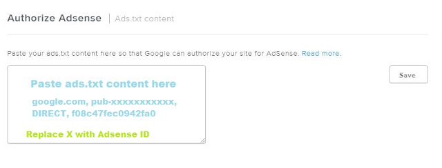 ads.txt file on weebly