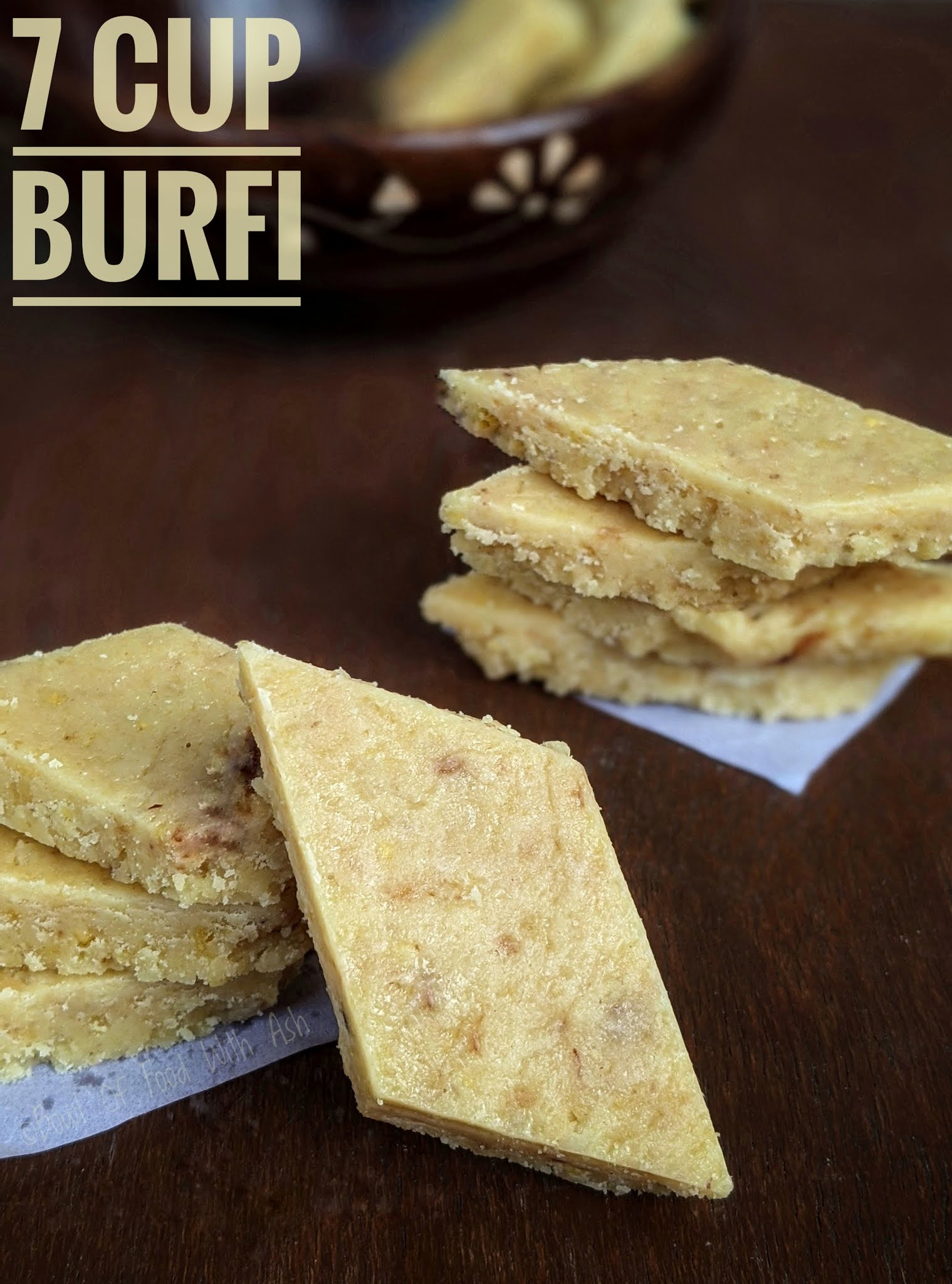 7 Cup Burfi Recipe | How To Make 7 Cup Cake | 7 Cup Barfi / Sweet Recipe