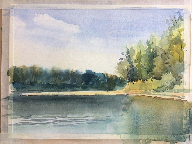vetluga plein air watercolour
