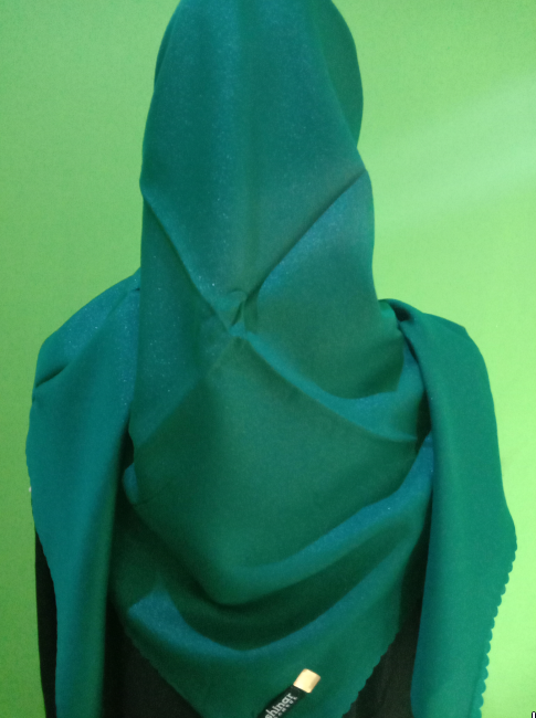Kerudung Shinar Glamour Sonic Green Bottel