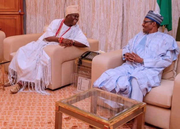 Buhari In Closed Door Meeting With Ooni, Southwest Leaders