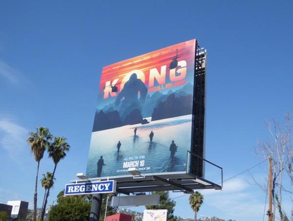 Kong Skull Island film billboard