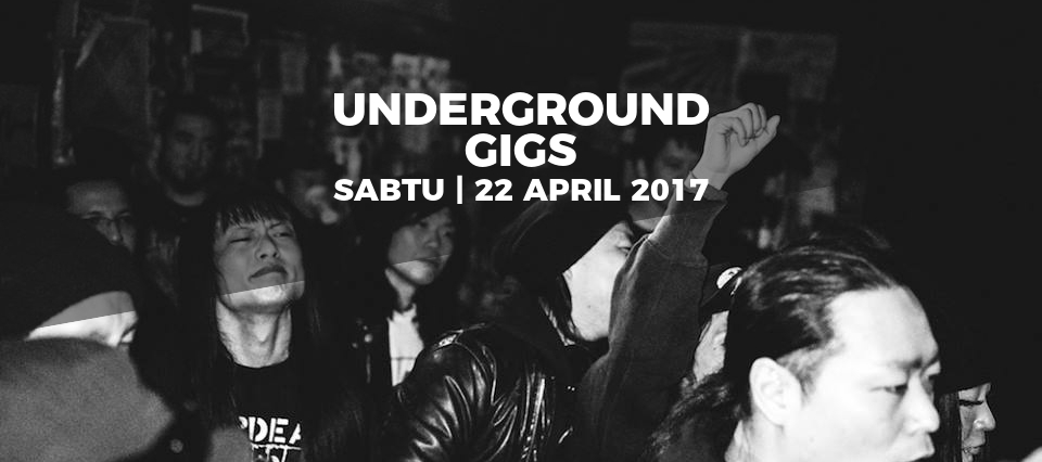 underground gigs 22 april grunge metal