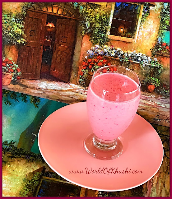 KhushiWorld_StrawberryMilkShake